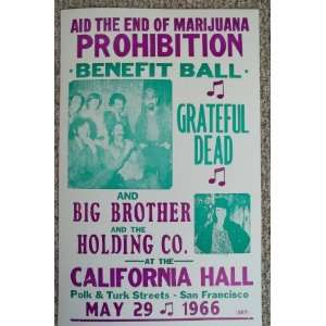 Grateful Dead, Big Brother & the Holding Co. Playing in San Fransisco