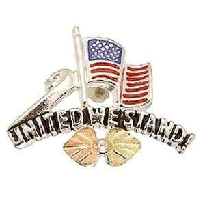 Stamper 14K Black Hills Solid Gold and Sterling Silver Tie