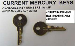 Mercury Mariner Force Honda Outboard Motor Spare Boat Ignition Keys