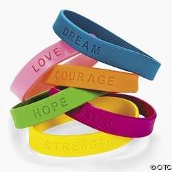 INSPIRATIONAL SAYING SILICONE RUBBER BRACELET WRISTBAND