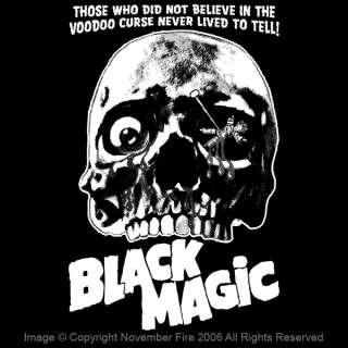 Black Magic Shirt Voodoo Doll Skull Evil Curse Death