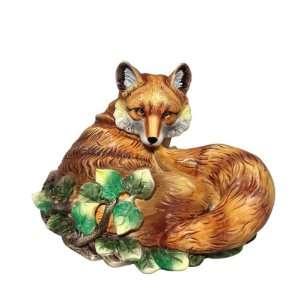 J. Willfred Ceramics Hand Painted Fox Figurine Patio