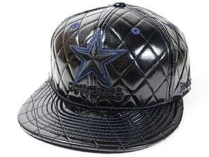 Dallas Cowboys Machete Shiny Black NFL Fitted Hat