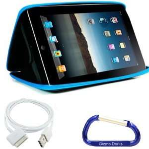 Premium Apple iPad EVA Hard Shell Case (Blue) and USB Data Sync