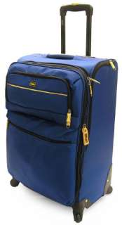 Lucas Tuscany 24 Expandable Spinner Luggage Blue NWT