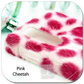 Pink Cheetah Velvet Felt Hard Back Skin Case Cover  Kindle Fire