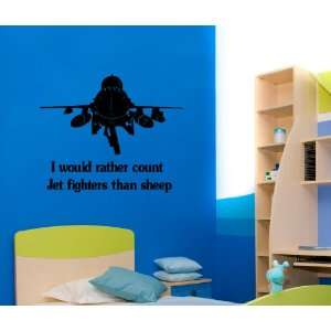 Jet fighter decal Vinyl wall decal Jet fighter sticker