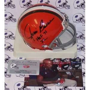 Jim Brown Autographed/Hand Signed Cleveland Browns Mini Helmet with