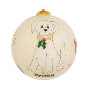 Personalized I Love My Dog   White Dog Christmas Ornament