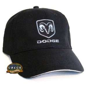 Dodge Ram Hat Black with Metal Logo (Apparel Clothing) Automotive