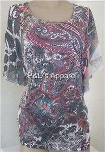 New Lavish Womens Plus Size Clothing Black Shirt Top Blouse 1X 2X