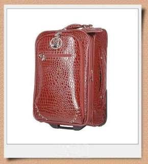 KATHY VAN ZEELAND CROC STYLE 28 Rolling Luggage NWT