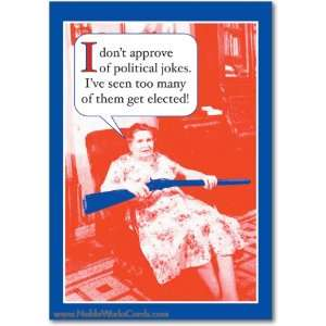 Funny Birthday Card Political Jokes Humor Greeting Ron
