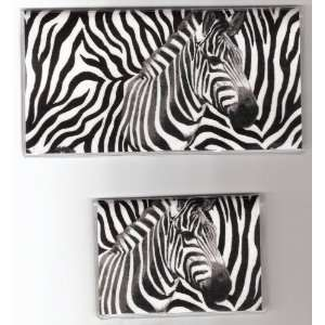 Checkbook Cover Debit Set Made with Zebra Fabric