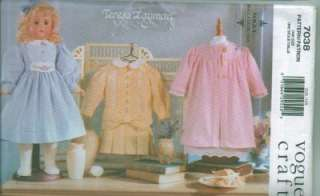 Vogue 18 Doll Clothes American Girl Sewing Pattern OOP