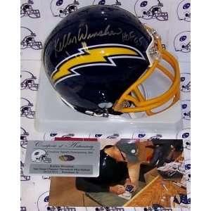San Diego Chargers Kellen Winslow Hand Signed Mini Helmet