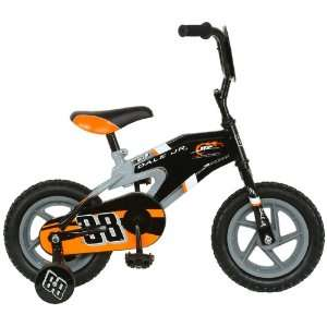 NASCAR Junior Nation Kids 12  Inch Bike, Black/Gray