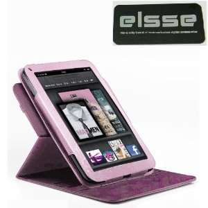 Premium Rotational Folio Case for Kindle Fire Cover   Pink Rotational