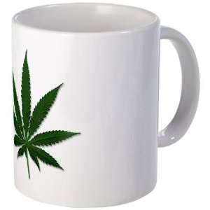 Marijuana Pot Leaf Funny Mug by   Kitchen