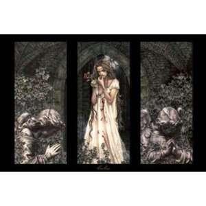 Victoria Frances   (triptych) POSTER Canvas