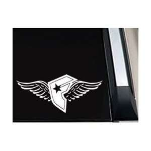 Famous Star Stripe Wings Car Window Vinyl Decal Sticker  SFSSW05105  5
