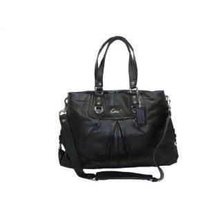 Coach Ashley Black Leather Satchel F15445 Bag   Coach