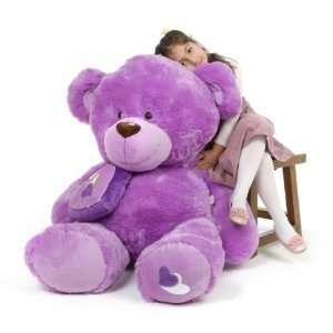 Sewsie Big Love Huge Huggable Lavender Teddy Bear 47 in Toys & Games