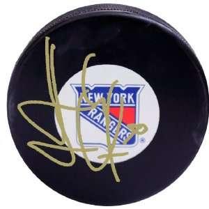 NHL New York Rangers Henrik Lundqvist Autographed Gold