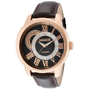 Mens Non Plus Ultra Black Textured Dial Rose Gold IP Case