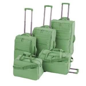 RENOVO 5 Piece Luggage Set   Green