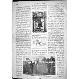 1905 Motor Dufaux Novel Flying Machine Brothers Aeroplane