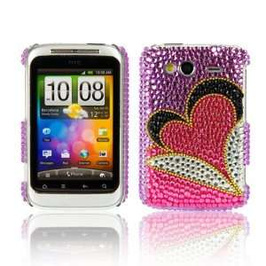 WalkNTalkOnline   HTC Wildfire S Purple & Pink Love Heart