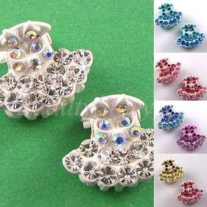 SHIPPING 2pc Austrian rhinestone crystal fashion hair claw clip