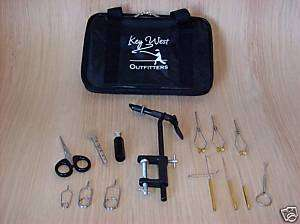 FLY TYING TOOL KIT  DELUXE FLY TYING TOOL SET WITH BAG