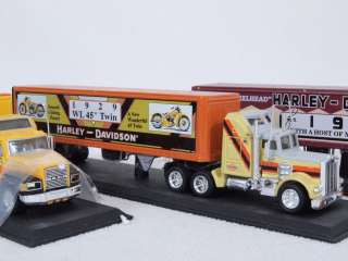 15) of 4 Matchbox Collectibles Harley Davidson Tractor Trailers