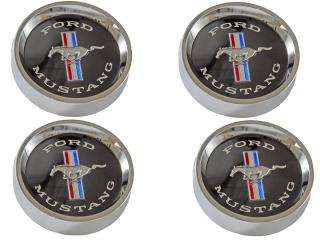 1965 1966 Mustang Styled Steel Wheels Center Caps Black