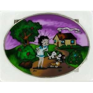 Betty Boop Stained Glass Art Three Little Kittens Nursery Rhyme Wall
