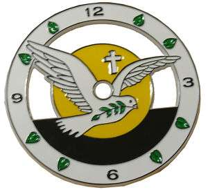New 5 Christian Dove, Fig Leaf & Cross Clock Dial