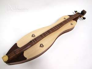 NEW QUALITY 4 STRING SOLID SPRUCE & ROSEWOOD MOUNTAIN DULCIMER ARCHED
