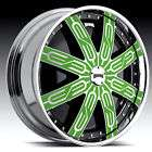 24 DUB TYCOON SPINNER CHROME WHEEL SET   CUSTOM COLORS