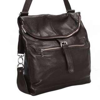 Ladies Girls Real LEATHER SHOULDER BAG BackPack travel