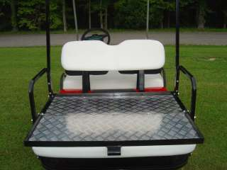 CLUB CAR SEAT, REAR FLIP FLOP KIT, GOLF CART CARGO BED
