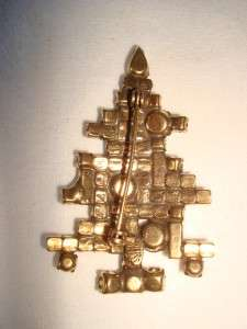 Vintage WEISS Christmas Tree Pin Brooch 2 1/4 T~~Classic~~Gorgeous