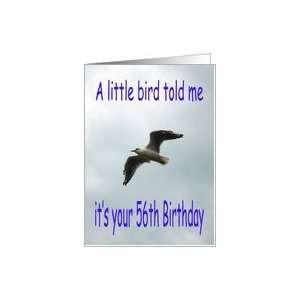 Happy 56th Birthday Flying Seagull bird Card Toys & Games