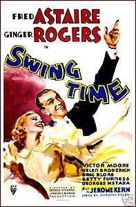 MOVIE POSTER Swing Time Fred Astaire Ginger Rogers 1936