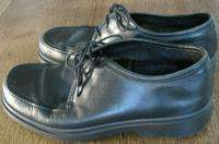 Ecco Black Leather Oxford Shoes Size EU 42 US 9