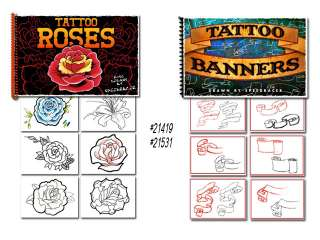 Tattoo Flash Art Books Roses Banners Scrolls Black Grey