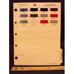 1991 91 HONDA / ACURA IMPORT Paint Colors Chip Page Honda Motor Company