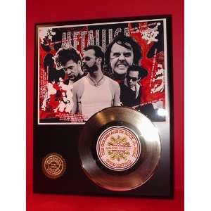 Metallica 24kt Gold Record LTD Edition Display ***FREE