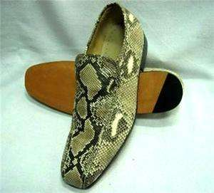 GENUINE PYTHON SNAKE LEATHER CASUAL LOAFERS MENS SHOES Size available
